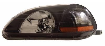 Headlights & Tail Lights - Headlights - Anzo - Honda Civic Anzo Headlights - Crystal & Black - 121067