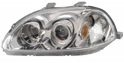 Headlights & Tail Lights - Headlights - Anzo - Honda Civic Anzo Projector Headlights - with Halo Chrome - 121069