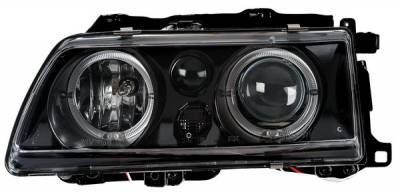 Headlights & Tail Lights - Headlights - Anzo - Honda CRX Anzo Projector Headlights - with Halo Black - 121073