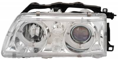 Headlights & Tail Lights - Headlights - Anzo - Honda CRX Anzo Projector Headlights - with Halo Chrome - 121074
