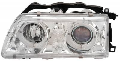 Headlights & Tail Lights - Headlights - Anzo - Honda Civic Anzo Projector Headlights - with Halo Chrome - 121076
