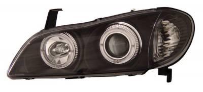 Headlights & Tail Lights - Headlights - Anzo - Infiniti I-30 Anzo Projector Headlights - with Halo Black - 121077