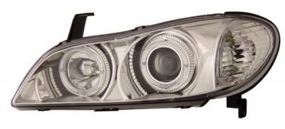 Headlights & Tail Lights - Headlights - Anzo - Infiniti I-30 Anzo Projector Headlights - with Halo Chrome - 121078
