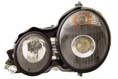 Headlights & Tail Lights - Headlights - Anzo - Mercedes-Benz E Class Anzo Projector Headlights - Black - 121083