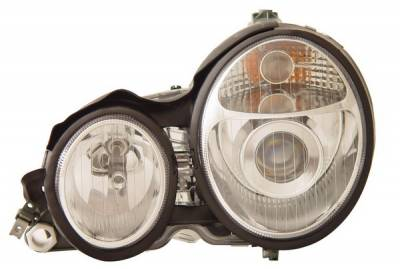 Headlights & Tail Lights - Headlights - Anzo - Mercedes-Benz E Class Anzo Projector Headlights - Chrome - 121084