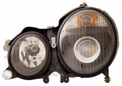 Headlights & Tail Lights - Headlights - Anzo - Mercedes-Benz E Class Anzo Projector Headlights - Black - 121085
