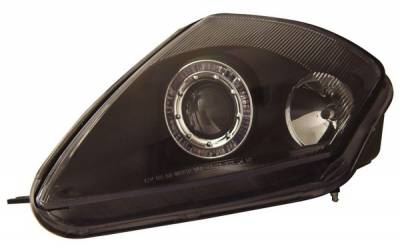 Headlights & Tail Lights - Headlights - Anzo - Mitsubishi Eclipse Anzo Projector Headlights - with Halo Black - 121093