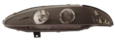 Headlights & Tail Lights - Headlights - Anzo - Mitsubishi Eclipse Anzo Projector Headlights - with Halo Black - 121096
