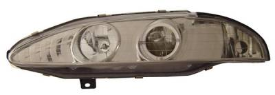 Headlights & Tail Lights - Headlights - Anzo - Mitsubishi Eclipse Anzo Projector Headlights - with Halo Chrome - 121097
