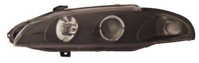 Headlights & Tail Lights - Headlights - Anzo - Mitsubishi Eclipse Anzo Projector Headlights - with Halo Black - 121098