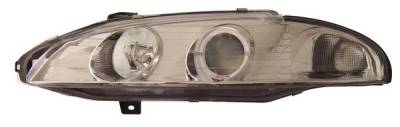 Headlights & Tail Lights - Headlights - Anzo - Mitsubishi Eclipse Anzo Projector Headlights - with Halo Chrome - 121099