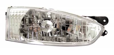 Headlights & Tail Lights - Headlights - Anzo - Mitsubishi Mirage 2DR Anzo Headlights - Crystal & Chrome - 121106