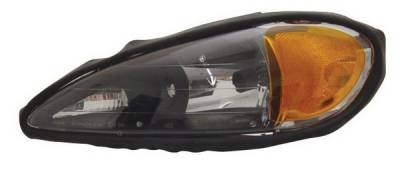 Headlights & Tail Lights - Headlights - Anzo - Pontiac Grand Am Anzo Headlights - Crystal & Black - 121116