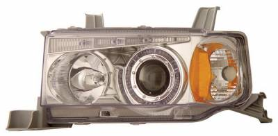Headlights & Tail Lights - Headlights - Anzo - Scion xB Anzo Projector Headlights - with Halo Chrome - 121118