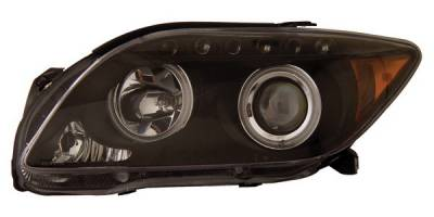 Headlights & Tail Lights - Headlights - Anzo - Scion tC Anzo Projector Headlights - with Halo - CCFL - Black - 121119