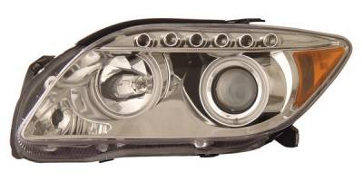 Headlights & Tail Lights - Headlights - Anzo - Scion tC Anzo Projector Headlights - with Halo - CCFL - Chrome - 121120