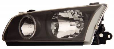 Headlights & Tail Lights - Headlights - Anzo - Toyota Camry Anzo Headlights - with Halo - Black - 121123
