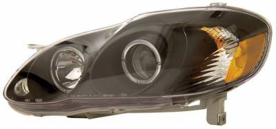 Headlights & Tail Lights - Headlights - Anzo - Toyota Corolla Anzo Projector Headlights - with Halo Black - 121125