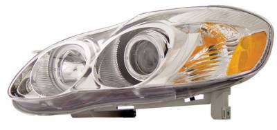 Headlights & Tail Lights - Headlights - Anzo - Toyota Corolla Anzo Projector Headlights - with Halo Chrome - 121126