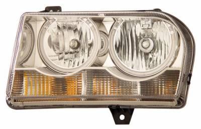 Headlights & Tail Lights - Headlights - Anzo - Chrysler 300 Anzo Headlights - Crystal & Chrome with Halo - CCFL - 121137