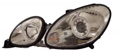 Headlights & Tail Lights - Headlights - Anzo - Lexus GS Anzo Projector Headlights - with Halo - Chrome & Clear with Amber Reflectors - 121143