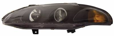 Headlights & Tail Lights - Headlights - Anzo - Mitsubishi Eclipse Anzo Projector Headlights - with Halo - Black & Clear with Amber Reflectors - 121156