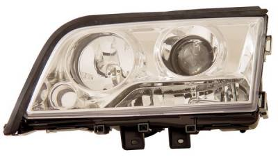 Headlights & Tail Lights - Headlights - Anzo - Mercedes-Benz C Class Anzo Projector Headlights - Chrome & Clear - 121158