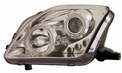 Headlights & Tail Lights - Headlights - Anzo - Honda Prelude Anzo Projector Headlights - with Halo - Chrome & Clear with Amber Reflectors - 121163