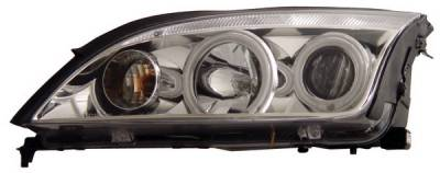 Headlights & Tail Lights - Headlights - Anzo - Ford Focus Anzo Projector Headlights - with Halo - Chrome & Clear with Amber Reflectors - CCFL - 121168