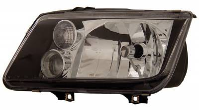 Headlights & Tail Lights - Headlights - Anzo - Volkswagen Jetta Anzo Headlights - Black - 121169