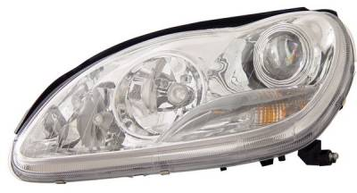 Headlights & Tail Lights - Headlights - Anzo - Mercedes-Benz S Class Anzo Projector Headlights - HID with Halo - Chrome & Clear with Amber Reflectors - 121177