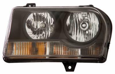 Headlights & Tail Lights - Headlights - Anzo - Chrysler 300 Anzo Headlights - Crystal & Black - 121186