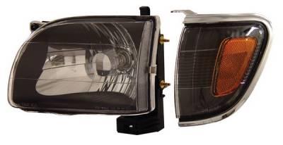 Headlights & Tail Lights - Headlights - Anzo - Toyota Tacoma Anzo Headlights - Black with Amber Reflectors - 121190