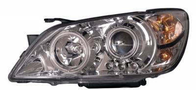 Headlights & Tail Lights - Headlights - Anzo - Lexus IS Anzo Projector Headlights - Chrome & Clear with Halos - 121200