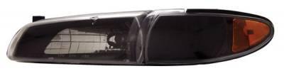 Headlights & Tail Lights - Headlights - Anzo - Pontiac Grand Prix Anzo Headlights - Black & Clear - 121201