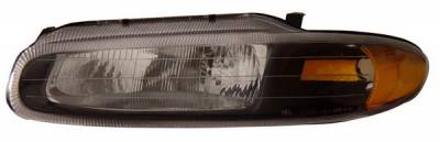 Headlights & Tail Lights - Headlights - Anzo - Chrysler Sebring Anzo Headlights - Black & Clear - 121205