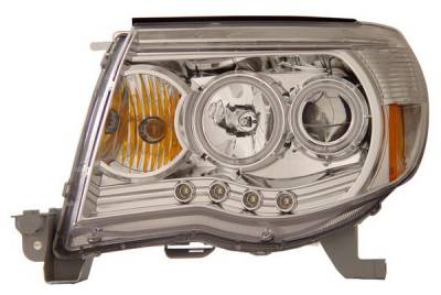 Headlights & Tail Lights - Headlights - Anzo - Toyota Tacoma Anzo Projector Headlights - Chrome & Clear with Halos - 121208