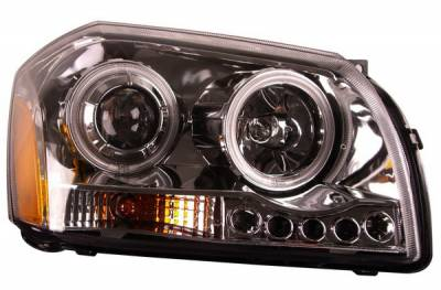 Headlights & Tail Lights - Headlights - Anzo - Dodge Magnum Anzo Projector Headlights - Chrome & Clear - 121219