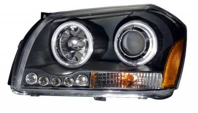 Headlights & Tail Lights - Headlights - Anzo - Dodge Magnum Anzo Projector Headlights - Black - 121220