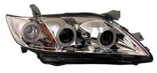 Headlights & Tail Lights - Headlights - Anzo - Toyota Camry Anzo Projector Headlights - G2 Chrome & Clear with Halos - 121222