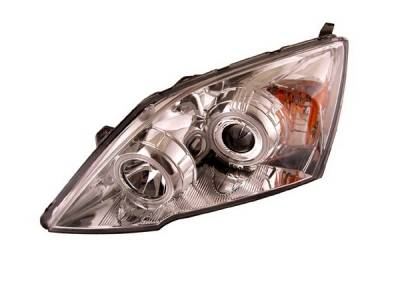Headlights & Tail Lights - Headlights - Anzo - Honda CRV Anzo Projector Headlights - Chrome & Clear with Halos - 121224