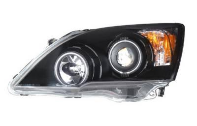 Headlights & Tail Lights - Headlights - Anzo - Honda CRV Anzo Projector Headlights - Black & Clear with Halos - 121225