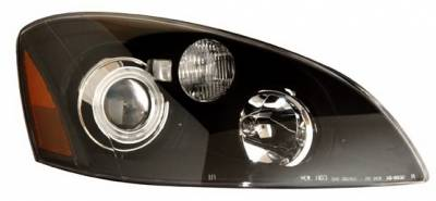 Headlights & Tail Lights - Headlights - Anzo - Nissan Altima Anzo Projector Headlights - Black & Clear with Halos - 121227
