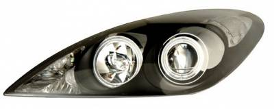 Headlights & Tail Lights - Headlights - Anzo - Lexus ES Anzo Projector Headlights - Black & Clear with Halos - 121232