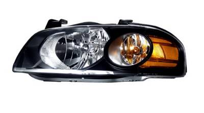 Headlights & Tail Lights - Headlights - Anzo - Nissan Sentra Anzo Headlights - Black & Amber - 121235