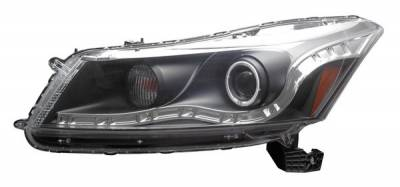 Headlights & Tail Lights - Headlights - Anzo - Honda Accord 4DR Anzo Projector Headlights - Black with Halos - CCFL - 121242