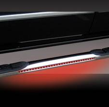Suv Truck Accessories - Running Boards - Pilot - Ford F250 Pilot Stainless Steel Nerf Bar with LED - Pair - NB-303L