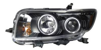 Headlights & Tail Lights - Headlights - Anzo - Scion xB Anzo Projector Headlights - Halo Black & Clear - 121254