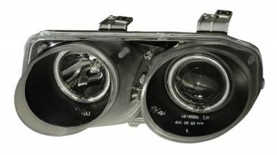 Headlights & Tail Lights - Headlights - Anzo - Acura Integra Anzo Projector Headlights - Halo Black & Clear & Amber - CCFL - 121256