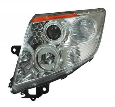 Headlights & Tail Lights - Headlights - Anzo - Nissan Sentra Anzo Projector Headlights - Halo Chrome & Clear Amber- CCFL - 121257